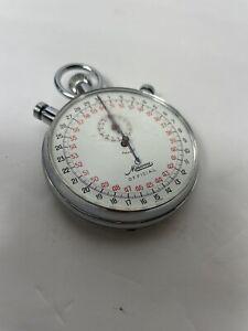 Vintage Minerva 9 Jewels pocket Swiss Stopwatch Good Working condition