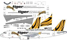 Tiger Airways Airbus A-320 decals for Revell 1/144 kit