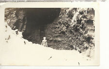 Sailor Standing in a Lava Tube    Oaha T. H. 1923  Photograph 2518