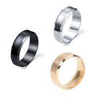 1X(Anillo de acero inoxidable con venda de titanio de boda para hombre colo E1S1