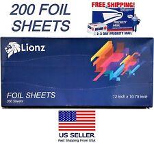 Pop Up Foil Sheets Measuring 12