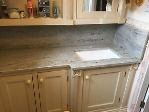 Granite Bathroom Vanity Tops, Polished Sink Cut Out, Marble, Limestone, Quartz