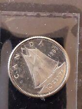 1963 Canada silver 10 cents, Elizabeth II, heavy cameo (DCAM), KM-51 (CA2)