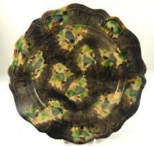 18TH CENTURY ENGLISH WHIELDON TYPE TORTOISE GLAZE PLATE e
