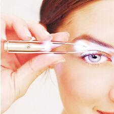 Eyelash Eyebrow Hair Stainless Steel Tweezer Makeup Removal Tool With LED Light