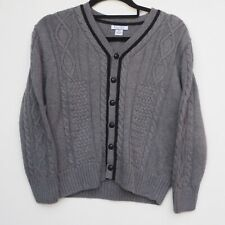 BNWT KITESTRINGS by HARTSTRINGS Boy's Grey Cable Knit Cardigan age 8-10 years
