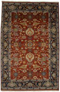 Vintage Style Dark Orange 6X9 Floral Oriental Area Rug Farmhouse Decor Carpet