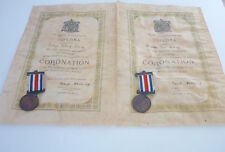 Coronation Parchment Scrolls 1911 with Coronation Medals