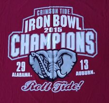 ALABAMA CRIMSON TIDE NCAA 2015 Iron Bowl Chamions T-Shirt Men's Large Garnet