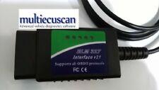 ELM 327 MODIFICATO per multiecuscan CAN OBD2 FIAT PROXY 1.4 SERVICE fiatecuscan