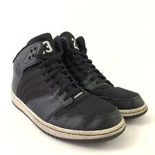 1104f44931 Mens Nike Air Jordan 1 Flight 4 Hightop Sneakers 12 838818-020 Black White
