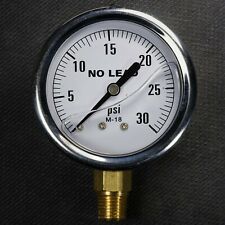 "NEW Stainless Steel Liquid Filled Pressure Gauge 0-30 PSI 2.5"" Face 1/4"" NPT"