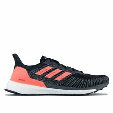 Para Hombre Adidas Solar Boost St 19 con Cordones estable Correr Entrenador Zapatos en Negro