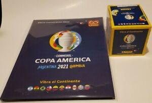 Panini Copa America 2021 Hardcover Album + 1 Sealed 50 packets box