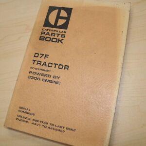 CAT Caterpillar D7F Tractor Crawler Parts Manual Book 92E series Mitsubishi List