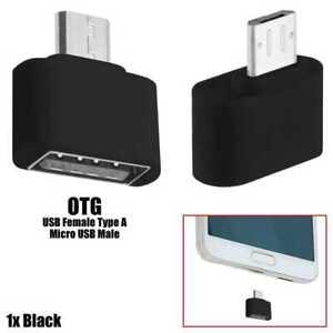 Mini Adaptador Micro USB a USB 2.0 OTG para Telefonos/Tablets Compatibles Negro
