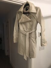 Ted Baker trench coat Jacket mac Size 8 - 10 size 2 Beige Cream great condition