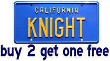 """Knight Rider LICENSE PLATE Replica Bumper Sticker 3.5""""x7"""" GoGoStickers"""