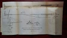1899 Sketch Defenses of Tampa Bay Florida for 8 in H.P. Guns