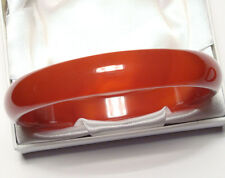 80x12mm Red Agate Bangle Bracelet, inner 69mm -- CLR052