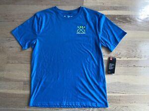 Boys blue under armour fish tshirt size xl nwt