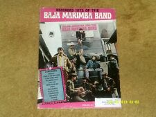 BAJA MARIMBA BAND songbook RECORDED HITS '68 48 pp w/pix (VG shape)