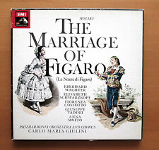 SLS 5152 Mozart The Marriage Of Figaro Schwarzkopf Giulini 3xLP EMI Box NM/VG
