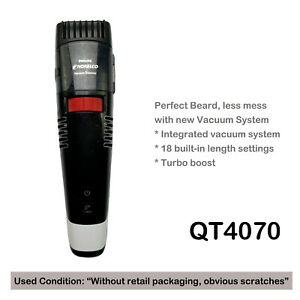 Philips Norelco Beardtrimmer Series 7000 Vacuum beard stubble trimmer QT4070