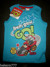 Angry Birds Go Red Size 4 Soft Cotton Poly Tank Top Licensed Product