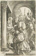 BUNDELE nach A.DÜRER: Christus vor Pilatus, 19. Jhd, Kupferstich