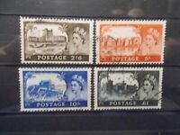 GB 1967 Castles Stamps to £1~4 Values ~BW~759-762~Fine Used~UK Seller