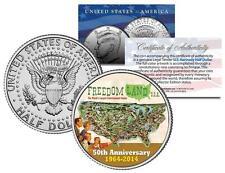 FREEDOM LAND USA 1964 Amusement Park Colorized JFK Half Dollar US Coin BRONX NY