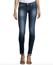 True Religion Julie Skinny Jean w/ Flaps size 29 waist Lost Lagoon Color