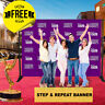 Custom Step and Repeat Banner 10'x8'FT 6 GUEST Photo-booth Telescopic UV PRINT