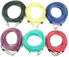 1 Set PROFI Mikrofonkabel 10 m XLR 3 pol 6 Farben DMX Mikrofon Kabel Adam Hall