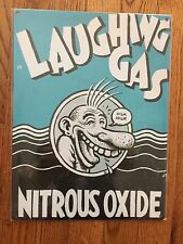 R Robert Crumb Nitrous Oxide N2O Laughing Gas Dentist Vintage Poster Metal Sign