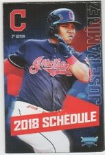2018 CLEVELAND INDIANS TEAM POCKET SCHEDULE JOSE RAMIREZ FREE SHIPPING