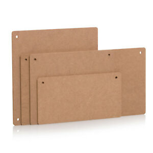 Wooden Plaques with 2 Holes MDF Rectangular Wood Sign Craft Blank Decoration