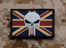 3D PVC UK Punisher Flag Patch SAS SBS SRR Royal Marines UKSF British Army Afghan