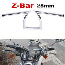 Chrome 1'' Inch Drag Z Bar Custom Handlebar For Honda Shadow VT 1100 750 600