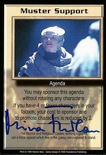 Babylon 5 Ccg Mira Furlan Premier Edition Muster Support Autographed