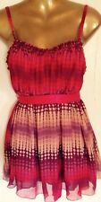 Women's Top By Designer Mixit Size L Sleeveless Lined Sheer Stylish Adjustable