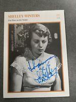 Shelley Winters Autogramm Autograph a. Foto 17,8 x 13 cm signiert Selten!
