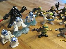 VINTAGE STAR WARS FIGURINES LOT OF 17 + LEGO WATCH FIGURE 1997-2007 HANS LUKE