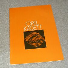 Opel Kadett Brochure 1978 - 1.2S 1.9E GT/E Coupe 1.0 1.2 Saloon 3 Door Estate