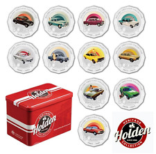 2016 LIMITED EDITION TIN WITH SET 11 50c HOLDEN HERITAGE COINS + FREE TIN CARDS