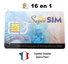 1 CARTE SUPER SIM VIERGE -  COPIE SAUVEGARDE CLONE TELEPHONE PORTABLE SUPERSIM