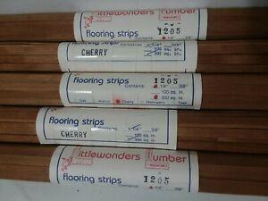 "Vintage Dollhouse Flooring Littlewonders Lumber CHERRY Flooring Strips 1/4"""