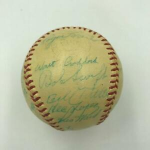 Roger Maris Rookie Era 1958 Kansas City Athletics Team Signed Baseball Beckett