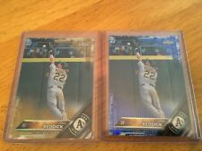 2016 Topps Chrome Josh Reddick (2) Card Lot Blue Gold Parallels A's